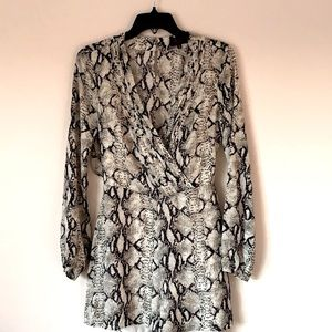Hot Miami Style Romper Size Small snake pattern